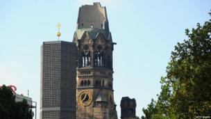 Berlin's landmark the Kaiser-Wilhelm-Gedaechtniskirche in Berlin
