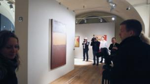 Visitors attend the opening of the new Mark Rothko Centre in Daugavpils, Latvia