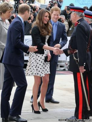 The Duke and Duchess of Cambridge and Prince Harry arrive at the inauguration of Warner Bros. Studios at Leavesden