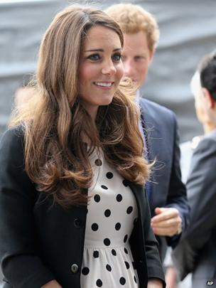 The Duchess of Cambridge and Prince Harry