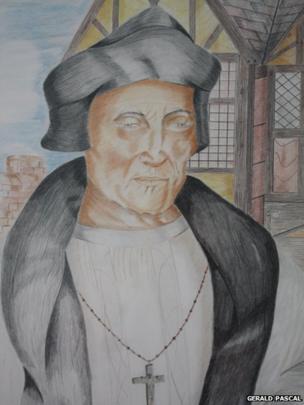 Bishop Fox at Farnham Castle drawing