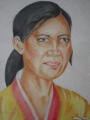 Portrait of Korean woman, part of Divine Wind exhibition