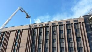 Fire at National Library