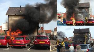 NNR signal box on fire in Sheringham