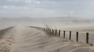Sandstorm in Lossiemouth, Scotland. Photo: Sydney Hewett