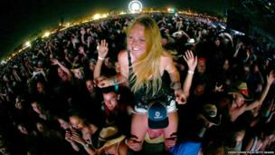 Fans at Stagecoach, California's Country Music Festival