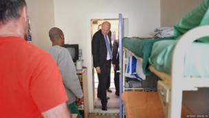 Justice Secretary Chris Grayling visits Pentonville Prison