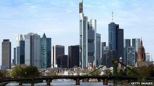 The European Central Bank, headquartered in Frankfurt, will announce its interest rate decision on Thursday