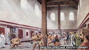 A reconstruction of the bath house