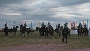 Racing horses in Turkmenistan