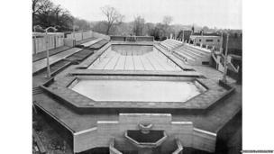 Broomhill Pool, Ipswich, 1938