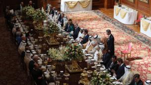 State lunch for the president of the UAE at Windsor Castle on 30 April 2013.