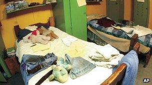 Personal belongings of some of the mentally disabled workers in an Iowa building that used to house them. Photo: 2009