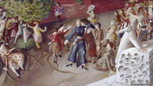 A Village in Heaven by Stanley Spencer (detail)