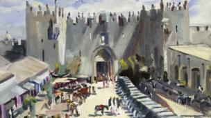 Outside Damascus Gate by David Bomberg (detail)