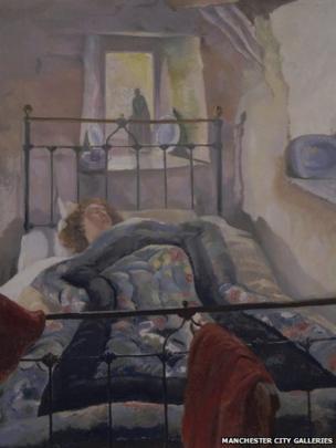 The Eiderdown by Sydney Carline (detail)