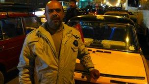 Mohamed, a mini bus driver in Alexandria