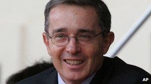 Former Colombian President Alvaro Uribe. File photo
