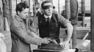 Woodwork – a member learning carpentry skills in Regent's Park