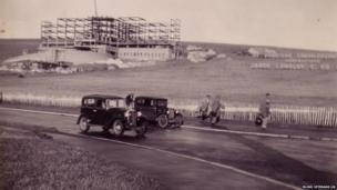 Ovingdean under construction in 1937