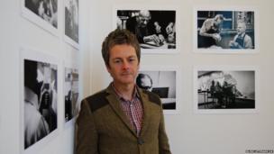 Darren Baldwin with his work