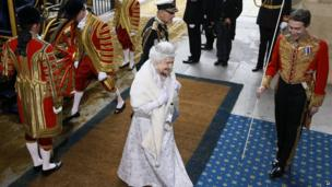 The Queen and Prince Philip arriving