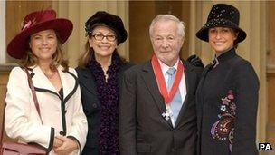 Bryan Forbes with his family (2004)