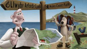 Wallace and Gromit in Wales.