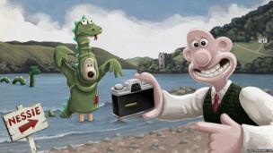 Wallace and Gromit at Loch Ness
