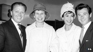 Richard Attenborough, Sheila Sim, Nanette Newman and Bryan Forbes