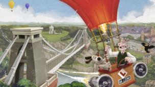Fun in a hot air balloon at the Clifton suspension bridge near Bristol.