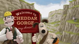 Wallace and Gromit at Cheddar Gorge