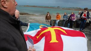 Flags blessed on Cobo slipway