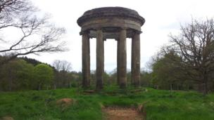 Ruined folly at Hagley Hall, Worcestershire