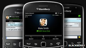 BBM on Blackberry handsets