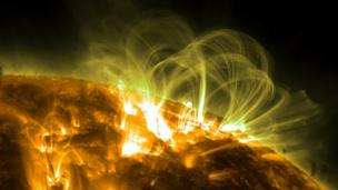 Magnetic loops SDO