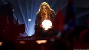 Valentina Monetta of San Marino performs on stage