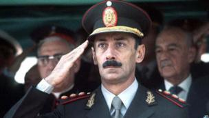 Undated file photograph showing former Argentine dictator Jorge Rafael Videla in Buenos Aires. AFP