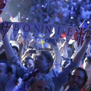 Bonnie Tyler fan at the Eurovision Song Contest