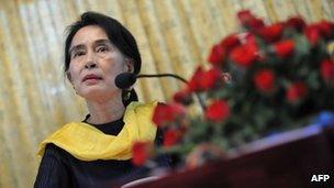 File photo: Burmese opposition leader Aung San Suu Kyi