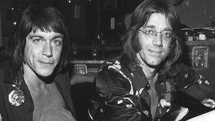 Iggy Pop and Ray Manzarek in 1974
