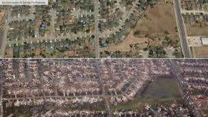 Before and after image of homes