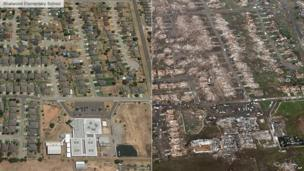 Before and after image of Briarwood Elementary School