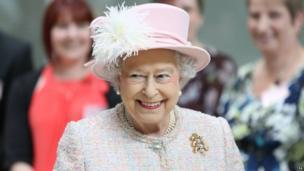 The Queen in Cambridge