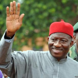 President Goodluck Jonathan at the funeral of Chinua Achebe, 23 May
