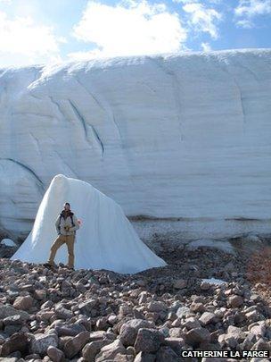 Eastern margin of the Tear Drop glacier