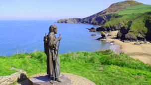 Statue of St Caranog, Ceredigion