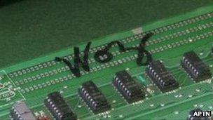 Motherboard signed by Steve Wozniak