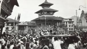 A large crowd in Nepal