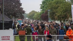 Visitors to the first day of the 2013 Suffolk Show